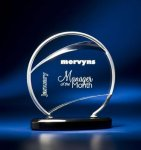 Bent Wire Circle on Black Acrylic Base Achievement Awards