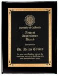 Black Piano Finish Recognition Plaque Achievement Awards