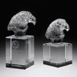 Eagle Head II Crystal Award Achievement Awards