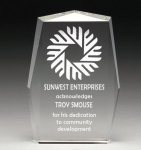 Corporate Crystal Rectangle * Achievement Awards