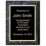 Improved Black Marble Plaque   (t) Achievement Awards