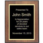 Walnut/Black Edge Plaque (t) Achievement Awards