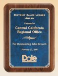 American Walnut Plaque with Marble Finished Plates  t Achievement Awards