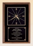 American Walnut Wall Clock   t Achievement Awards
