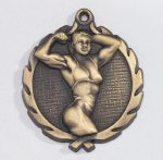 Wreath Body Builder Female Medal   t All Trophy Awards