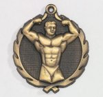 Wreath Body Builder Male Medal    t All Trophy Awards