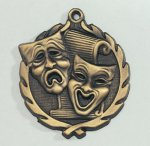 Wreath Drama / Theater Medal  t All Trophy Awards