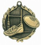 Wreath Rugby Medal  t All Trophy Awards