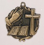 Wreath Religious Bible /Cross Medal  t All Trophy Awards