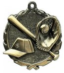 Wreath Baseball Medals  t All Trophy Awards