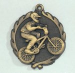 Wreath BMX Medal   t All Trophy Awards