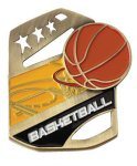 Basketball Color Medal Free Standing Or With Ribbon All Trophy Awards