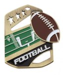 Football Color Medal Free Standing Or With Ribbon All Trophy Awards