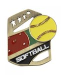 Softball Color Medal Free Standing Or With Ribbon All Trophy Awards