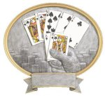 Legend Texas Hold'em Oval Award  t All Trophy Awards
