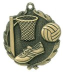 Wreath Netball Medals    t All Trophy Awards