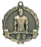 Wreath Male Weightlifting Medals  t All Trophy Awards