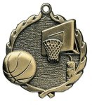Wreath Basketball Medals     t All Trophy Awards