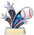Rising Star Baseball Star Resin Baseball Trophy Awards