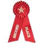 2nd Place Rosette Ribbon (T) Baseball Trophy Awards