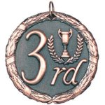 3rd Place Bronze Baseball Trophy Awards