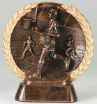 Resin Plate  Basketball Mini       t Basketball Trophy Awards