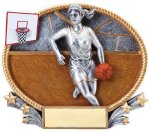 3D Oval Basketball F Basketball Trophy Awards