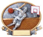 3D Oval Basketball M  t Basketball Trophy Awards