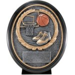 Basketball Resin Oval   T Basketball Trophy Awards