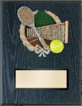 Tennis Resin Plaque Mount Award Billiards/Pool Trophy Awards