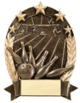 5 Star Oval Bowling Generic Bowling Trophy Awards
