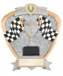 Signature Series Racing Flags Shield Award  t Car/Automobile Trophy Awards