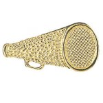 Megaphone Chenille Pin  t Cheerleading Trophy Awards