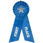 1st Place Rosette Ribbon (T) Cheerleading Trophy Awards
