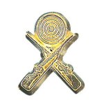 Crossed Rifle Chenille Pin  t Chenille Lapel Pins