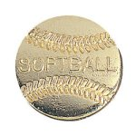 Softball Chenille Pin   t Chenille Lapel Pins