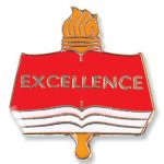 Excellence Lapel Pin  t Chenille Lapel Pins