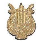 Music Lyre Chenille Pin  t Chenille Lapel Pins