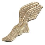 Winged Foot Chenille Pin  t Chenille Lapel Pins