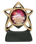 Star Resin Mylar Holder  t Coach Trophy Awards