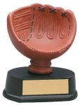 Softball Glove Resin Trophy Colored Resin Trophies