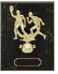 Black Marble Bevel Edge Plaques  figure  not included   t Economy Plaque Awards