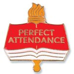Perfect Attendance Lapel Pin  t Education Trophy Awards