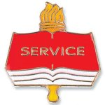 Service Lapel Pin   t Education Trophy Awards