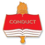 Conduct Lapel Pin  t Education Trophy Awards