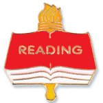 Reading Lapel Pin   t Education Trophy Awards