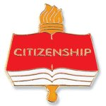 Citizenship Lapel Pin    t Education Trophy Awards
