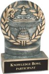 Lamp of Knowledge - Wreath Resin Trophy Education Trophy Awards