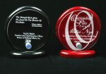 Piano Finish Circle Shaped Acrylic Award Employee Awards