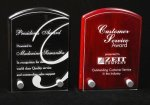 Piano Finish Dome Top Shaped Acrylic Award Employee Awards